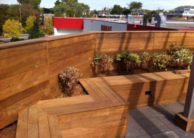 Ipe wood planters