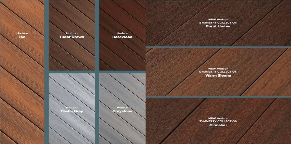 Composite decking, Trex, Fiberon, Timbertech, Azek, Zuri
