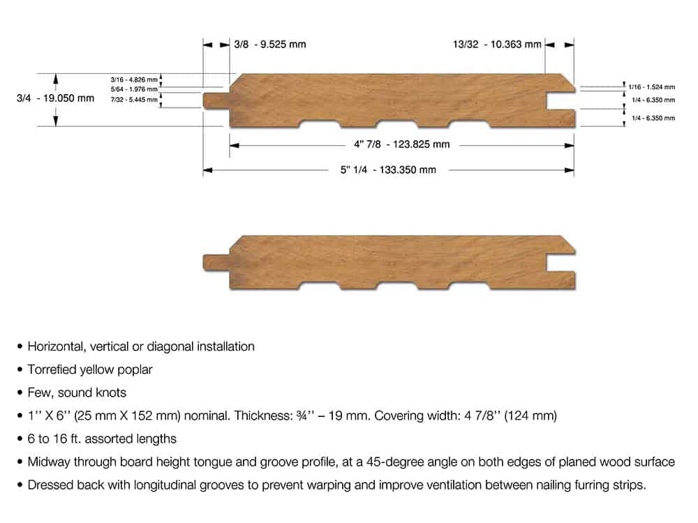 Roasted Wood Siding Cladding For Exterior Walls